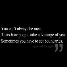 Have to set boundaries
