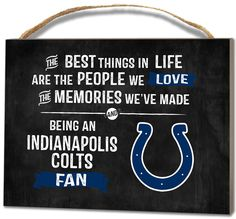 Indianapolis Colts Small Plaque - Best Things