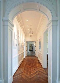 I love the herringbone wood floors