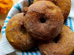 These donuts are dense, crumbly, sweet, with a hint of spice & highly addicting!