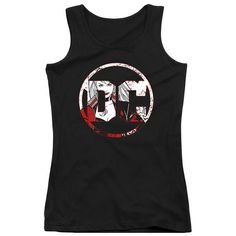 Batman DC Logo Harley Quinn Juniors and Women Black T-Shirts