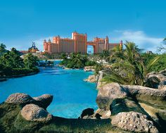 Atlantis Resort in the Bahamas.  It is a slice of heaven and in my many travels still find the people of this island to be the nicest anywhere, gracious and very accommodating.  You can be in as much entertainment or complete privacy as you desire.  It is also home to the world's largest open-air marine habitat second only to nature!  Stunning...