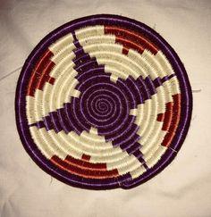 Small African basket/ Rwanda basket/ Sisal basket/ African basket/ Woven basket/  Trivet basket/ Jewelry storage basket/ Colorful basket/