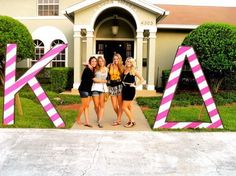 Kappa Delta in pink and white