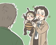 """""""But Dean the bee costume is perfect!""""  """"Yeah...for a girl! It's a boy Cas!"""""""
