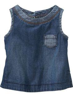 Sleeveless Denim Tunics for Baby Product Image Denim Tunic, Denim Top, Denim Outfit, Old Navy Toddler Girl, Toddler Jeans, Xl Fashion, Denim Fashion, Denim Ideas, Old Jeans