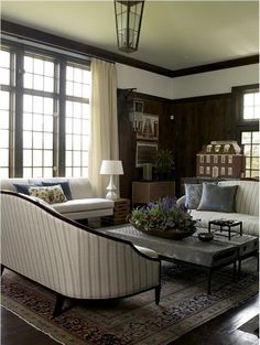 Classic Traditional Living Room by Kathryn Scott