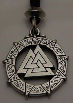 Valknut Pendant - Nordic Odin's Viking Knot of the Fallen Norse Necklace Amulet