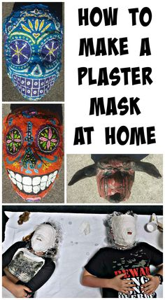 How to make a plaster mask at home #kids #craft #ebay #DIY