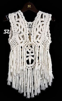 crochelinhasagulhas: chaleco blanco de ganchillo