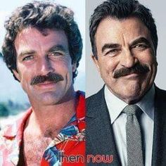 The only thing that changed about Tom Selleck from, Magnum P. to Blue Bloods is his hair! One of the many stars, who ages very gracefully! Tom Selleck, Franck Sinatra, Michigan, Toms, Sam Elliott, Celebrities Then And Now, Star Wars, Old Tv Shows, Blue Bloods