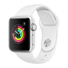 Apple Watch Series 3 38 mm Smartwatch (GPS Only, Silver Aluminum Case, White Sport Band), for sale online Apple Watch Series 3, Apple Watch 38mm, Apple Watch Silver, Buy Apple Watch, Apple Watch White, Bluetooth, Sport Watches, Watches For Men, Nice Watches