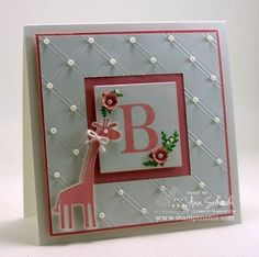 Score, then cut out center square.  Great inspiration!  Via SU Demo Ann Schach of the Stampin' Schach.  Ann makes such pretty cards!