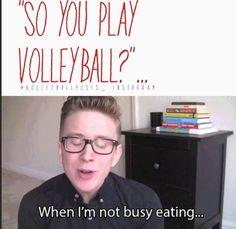 haha yess/ volleyball humor