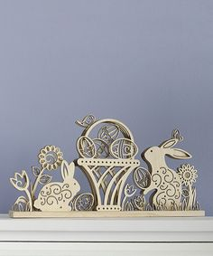 This Spring Laser-Cut Wood Centerpiece is perfect! #zulilyfinds