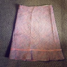 Pink tweed gap skirt Adorable tweed skirt is so girly. Pretty in pink. It has never been worn. Too small. Size 6 GAP Skirts A-Line or Full