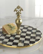 H5ZLV MacKenzie-Childs Courtly Check Cheese Platter