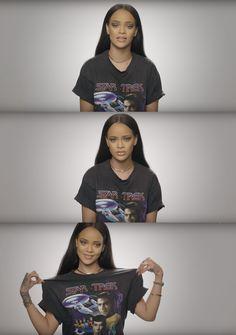 Rihanna talks about Star Trek - Celebrities Fenty Rihanna, Mode Rihanna, Style Rihanna, Rihanna Outfits, Photos Rihanna, Mode Streetwear, Bad Gal, Woman Crush, Swagg