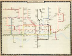 Historical Map: Harry Beck's 1961 Victoria Line Tube Map Proposal