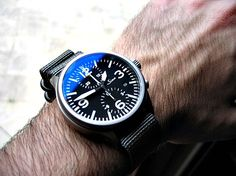 Watch Anish - Luxury Watches and Lifestyle stuff. Check out this Sinn 756 on a Nato
