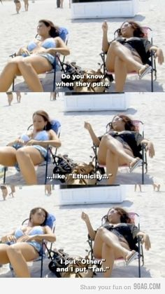 "Words of wisdom from Snookie> I actually like this hahaha. I should start putting ""pale"" for mine ;)"