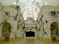 Carlos Amorales 30,000 Swarming Paper Moths Consume Gallery Walls