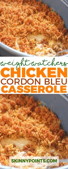 Chicken Cordon Bleu Casserole come with 7 weight watchers smart points.