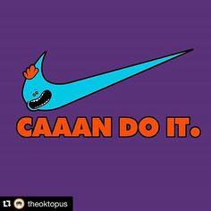 #Repost @theoktopus ・・・ #riptapparel #rickandmorty #caaandoit #mrmeekseeks #nike #crossover #art
