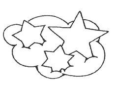 dibujos infantiles nube estrellas colorear modelos varios navidad fichas actividades