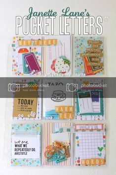 A new Pocket Letter tutorial! Send some cute planner goodies to your penpals! Pen Pal Letters, Pocket Letters, Pocket Pal, Pocket Cards, Snail Mail Pen Pals, Project Life Cards, Project Life Planner, Fun Mail, Pocket Scrapbooking