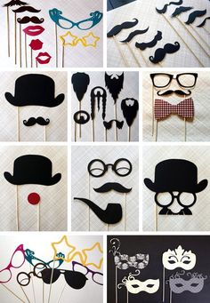 How to make photobooth props - Milsaps Long - weddingsb4