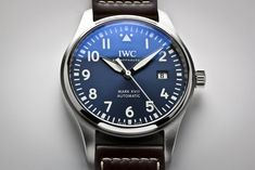 Cool Watches, Rolex Watches, Iwc Pilot, Stainless Steel Case, Omega Watch, Brown Leather, I Am Awesome, Clock, Mens Fashion