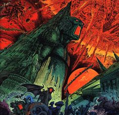 Philippe Druillet is, along with Moebius and Caza, one of the founding visionaries of the movement that took french comics by storm in the Cyberpunk, Sci Fi Kunst, Bd Art, Arte Sci Fi, 70s Sci Fi Art, Hp Lovecraft, Alternative Art, Bd Comics, Art Graphique