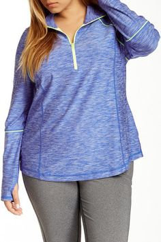 Shop Now - >  https://api.shopstyle.com/action/apiVisitRetailer?id=470879757&pid=uid6996-25233114-59 Z By Zella Fast Pace Half Zip Pullover (Plus Size)  ...