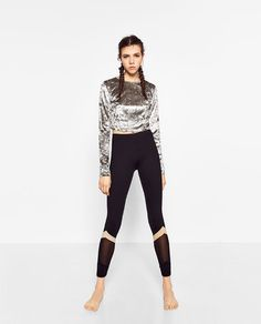 Image 1 of CROPPED VELVET TOP from Zara
