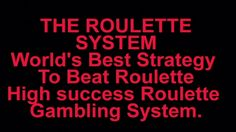 Repeating numbers roulette strategy