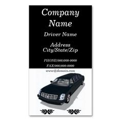 Auto car private chauffeur driver appointment card limo taxi limousine limo service business cards colourmoves
