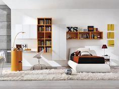 Кровать с мягкой спинкой в детскую комнату Z011 в салоне итальянской и испанской…