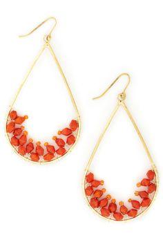 Orange Tree Earrings, #ModCloth $11.99