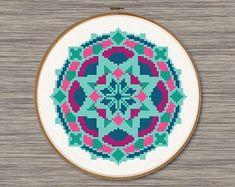 Green Mandala - PDF Cross Stitch Pattern