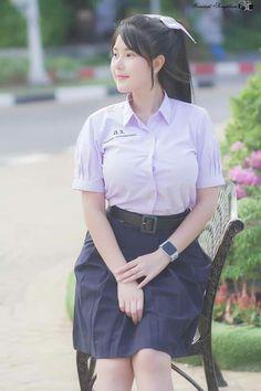 Girl in Uniform 😘 School Girl Fancy Dress, School Uniform Girls, Girls Uniforms, Hot Girls, Cute Asian Girls, Beautiful Asian Girls, Asian Lingerie, Pretty Asian, Kawaii