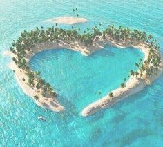Tropical island in the shape of a love heart/ Heart Island aerial view Beautiful Islands, Beautiful Places, Beautiful Pictures, Beautiful Ocean, Heart In Nature, Pet Loss, Aerial View, Nature Pictures, Amazing Nature