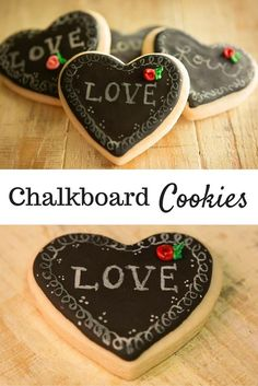 I can't get enough of these Chalkboard Cookies! They are adorable and delicious... and so easy to make. They would be perfect for Valentine's Day too!