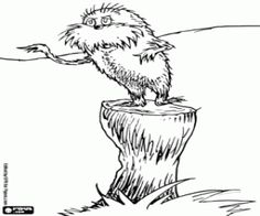 logo of the lorax coloring page | dr seuss | pinterest | lorax - Dr Seuss Coloring Pages Lorax