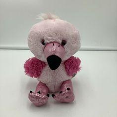 "Build A Bear Smallfrys Flamingo Pink Bird Plush Soft Toy Stuffed 2013 8"" Animal #BuildABearWorkshop"