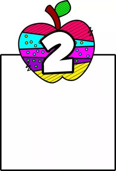 Learning Numbers Preschool, Frame Layout, School Colors, Second Grade, Classroom, Clip Art, Education, Logos, Ticks