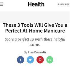Health Magazine! Manicure At Home, Pretty Hands, Health Magazine, Latex Free, Pedi, Medical, Medical Doctor, Medicine, Med School
