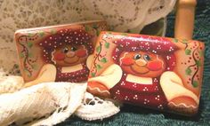 Gingerbread Girl Hand Painted Soap by PaintingByEileen on Etsy, $5.95