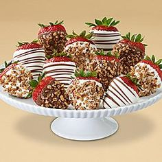 Shari's Berries Full Dozen Praline Pecan Strawberries - Berries paired with the rich flavor of cream cheese confection and the sweet crunch of praline pecans. Dozen $39.98