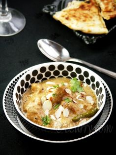 Chicken Korma – chicken in a creamy, nutty sauce